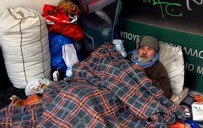 Δ. Αθηναίων. Θερμαινόμενος χώρος για την προστασία των αστέγων από το ψύχος