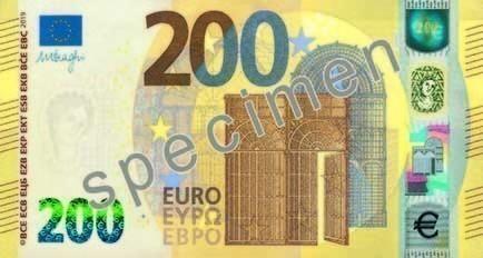 Νέα χαρτονομίσματα 100 και 200 ευρώ