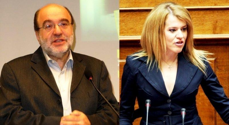 Τρ. Αλεξιάδης, και Θ. Τζάκρη στην εκδήλωση για τα Δίκτυα Καινοτομίας