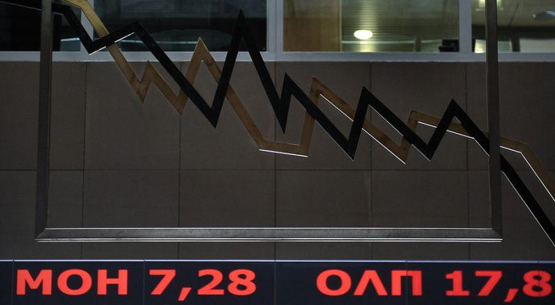 Ανήσυχη πτώση χρηματιστηρίων