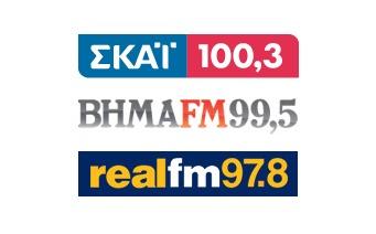 Ροή μετάδοσης ραδιοφωνικού σποτ από SKAI FM,Βήμα FM & Real FM
