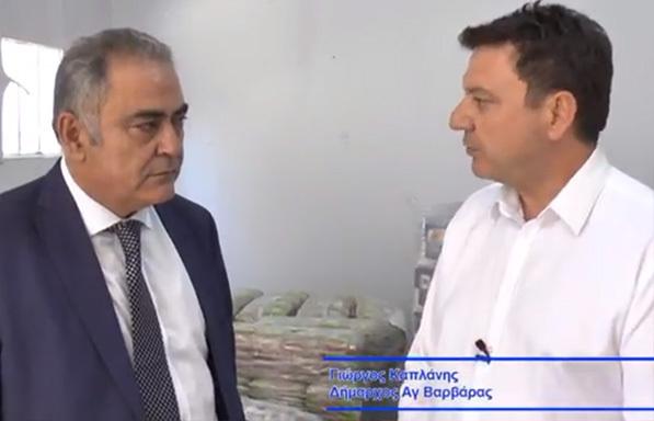 Ο Πρόεδρος ΕΕΑ στον Δήμο Αγ. Βαρβάρας για τα Ανοικτά Κέντρα Εμπορίου