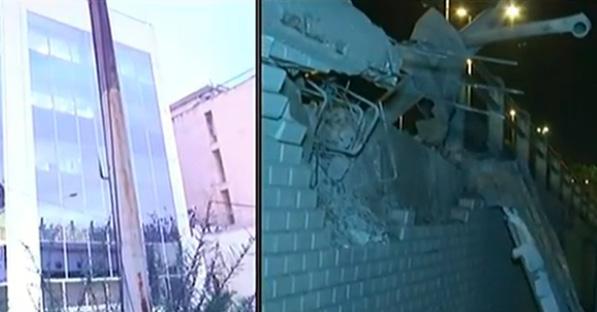 Σοβαρές ζημιές από έκρηξη βόμβας στον τηλεοπτικό σταθμό ΣΚΑΙ