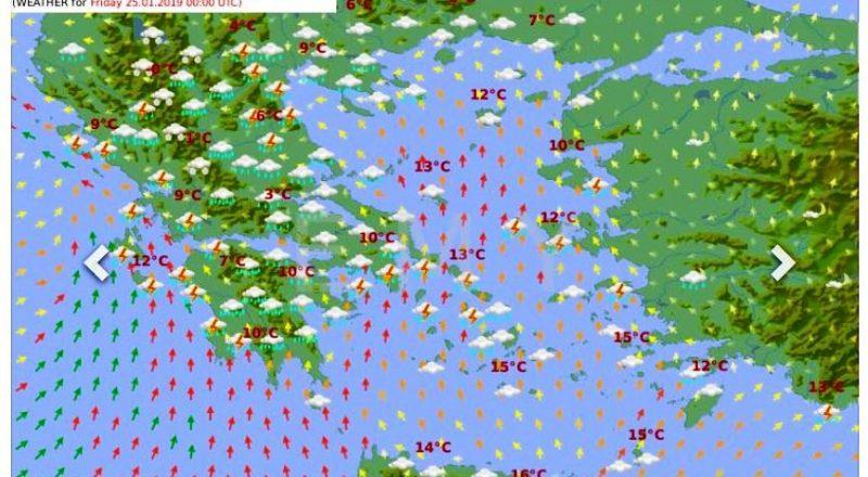 Έκτακτο δελτίο: Χαλάζι, καταιγίδες και χιόνια