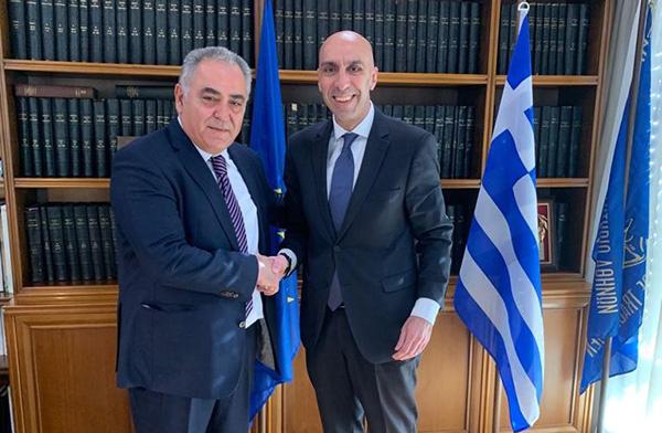 Συνάντηση του Προέδρου του ΕΕΑ με τον Γραμματέα Παραγωγικών Τομέων της ΝΔ
