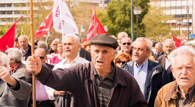 Παναττική κινητοποίηση συνταξιούχων στο Μέγαρο Μαξίμου
