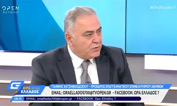Γ. Χατζηθεοδοσίου στο OPEN TV για την ασφάλιση των υποψήφιων οδηγών