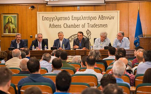 Ο υποψήφιος Περιφερειάρχης Αττικής Γ. Πατούλης στο ΕΕΑ