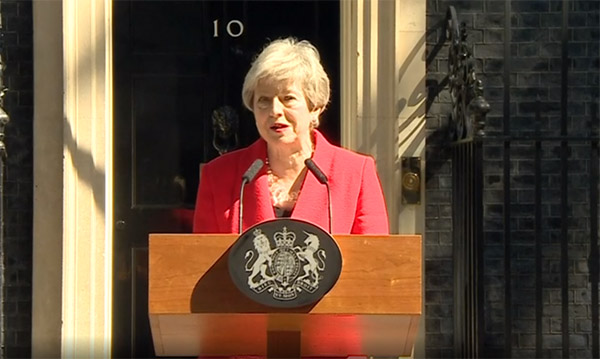 Παραιτείται η Βρετανίδα πρωθυπουργός Τερέζα Μέι