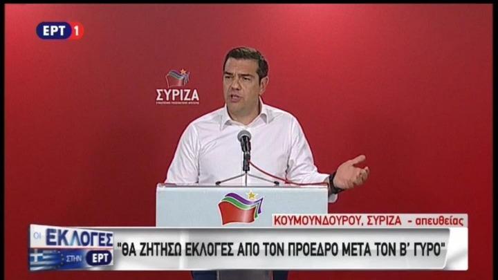Βουλευτικές εκλογές ανήγγειλε ο Αλ. Τσίπρας