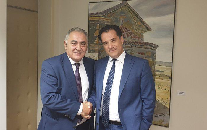 Το Ε.Ε.Α. έθεσε στον Άδωνι Γεωργιάδη όλα τα θέματα που «καίνε» τους μικρομεσαίους