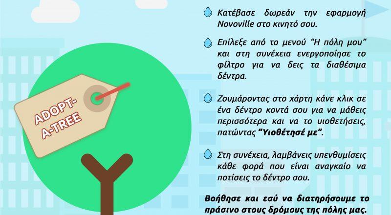Ο δήμος Αθηναίων: «Adopt-A-Tree», ένα πρόγραμμα για τη διατήρηση του πρασίνου στους δρόμους