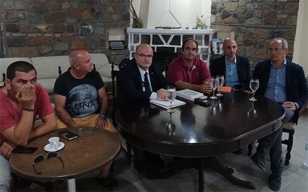 Επίσκεψη κλιμακίου της ΓΣΕΒΕΕ στη Σαμοθράκη με σκοπό την καταγραφή των προβλημάτων