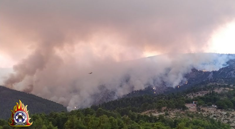 Πυρκαγιά στην Εύβοια: Χωρίς ενεργό μέτωπο – Στάχτη τουλάχιστον 24.000 στρέμματα