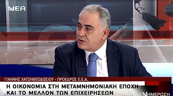 Γ. Χατζηθεοδοσίου στη Νέα Τηλεόραση Κρήτης: Το βάρος του αναπτυξιακού σχεδιασμού να πέσει στους μικρομεσαίους  – Βίντεο