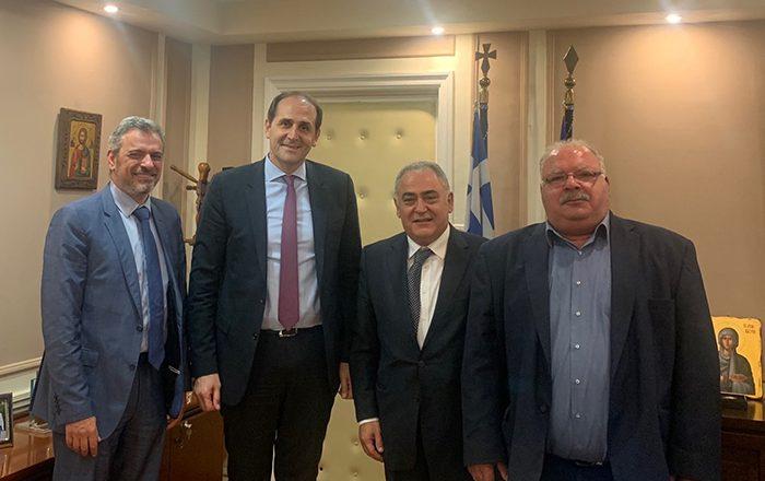 Συνάντηση αντιπροσωπείας του Ε.Ε.Α. με τον υφυπουργό Οικονομικών κ. Απόστολο Βεσυρόπουλο