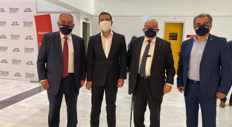 Εκπρόσωποι των παραγωγικών φορέων και των επιμελητηρίων –μεταξύ αυτών και ο Πρόεδρος του Ε.Ε.Α. – στην ομιλία του Αλέξη Τσίπρα στη Θεσσαλονίκη