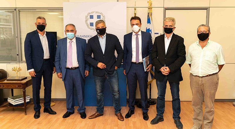 Συνάντηση του Προέδρου του Ε.Ε.Α κ. Γ. Χατζηθεοδοσίου και μελών της Διοίκησης του Ε.Ε.Α. με τον Περιφερειάρχη Αττικής κ. Γ. Πατούλη, με στόχο την στήριξη της επιχειρηματικότητας