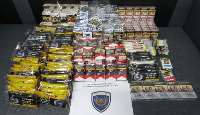 Εντοπισμός λαθραίων καπνικών προϊόντων στην Αττική