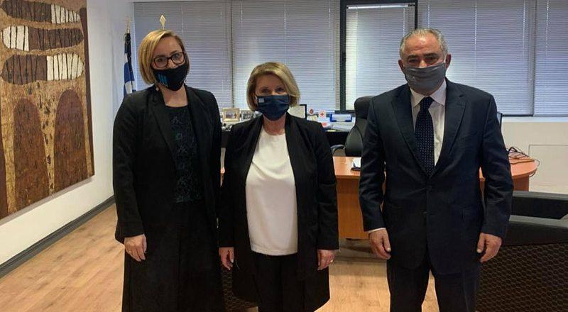 Συνάντηση του Προέδρου του Ε.Ε.Α. με την Υφυπουργό Μετανάστευσης και Ασύλου
