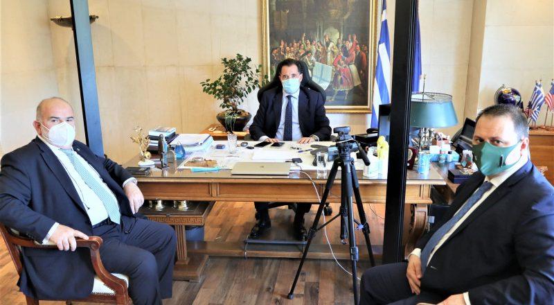 Συνάντηση Υπ. Ανάπτυξης Άδ. Γεωργιάδη με τον Πρόεδρο της ΓΣΕΒΕΕ Γ. Καββαθά