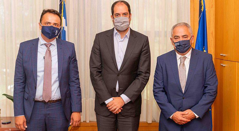 Συνάντηση Γ. Χατζηθεοδοσίου και Ν. Γρέντζελου με τον Υφυπουργό Μεταφορών Γ. Κεφαλογιάννη