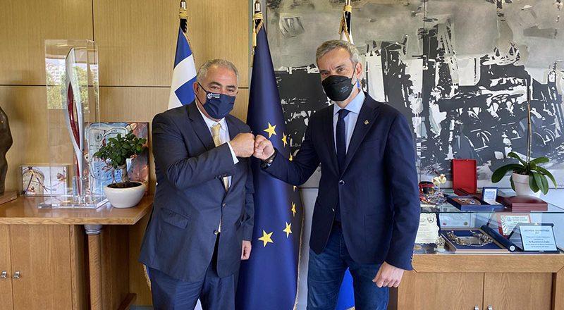 Συνάντηση του Γ. Χατζηθεοδοσίου με τον Δήμαρχο Θεσσαλονίκης Κ. Ζέρβα