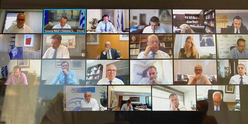 Μείωση επιτοκίων και ρευστότητα τα θέματα της τηλεδιάσκεψης Χρ. Σταϊκούρα-τραπεζιτών, με την συμμετοχή του Γ. Χατζηθεοδοσίου