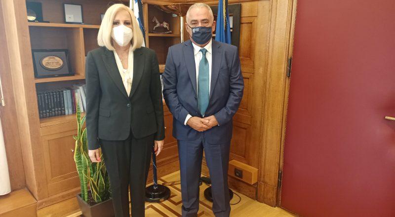 Με την Πρόεδρο του Κινήματος Αλλαγής, Φώφη Γεννηματά, συναντήθηκε ο Γιάννης Χατζηθεοδοσίου