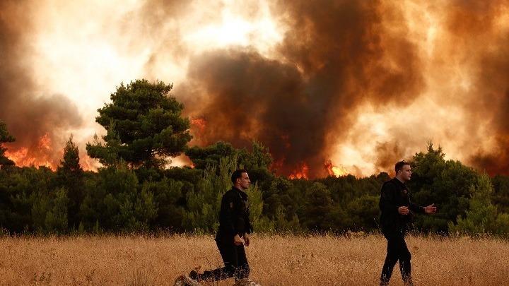 Σε δύο μέτωπα η πυρκαγιά στην Εύβοια – κατάσταση εξαιρετικά δύσκολη  – Διεθνής δύναμη πυροσβεστών στην κοινή μάχη κατά των πυρκαγιών