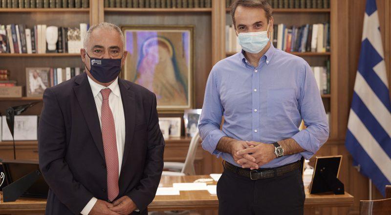 Με τον Πρωθυπουργό Κυριάκο Μητσοτάκη συναντήθηκε ο Γιάννης Χατζηθεοδοσίου
