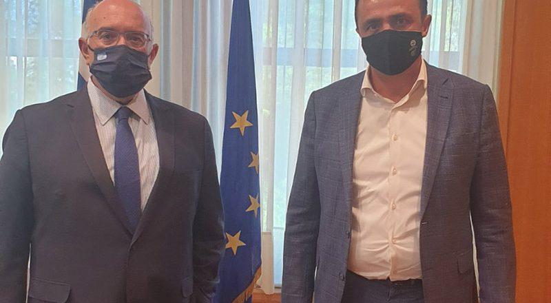 Συνάντηση Αντιπροέδρου Ε.Ε.Α. Ν. Γρέντζελου με τον νέο Υφυπουργό Υποδομών και Μεταφορών, Μ. Παπαδόπουλο