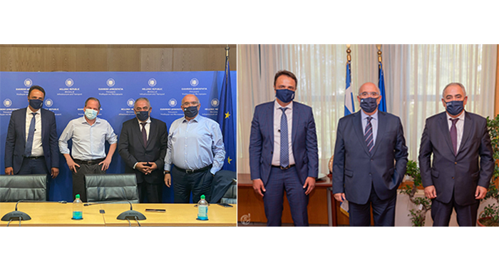 Συνάντηση του Προέδρου και του Αντιπροέδρου του Ε.Ε.Α. με την πολιτική ηγεσία του Υπουργείου Υποδομών και Μεταφορών