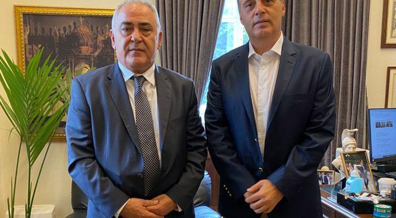 Συνάντηση του Προέδρου της ΚΕΕΕ με τον Κυριάκο Βελόπουλο